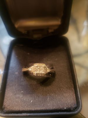 Sterling Silver ring from Macy's real diamonds for Sale in Modesto, CA