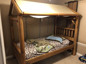 Log bed with canopy for Sale in New Lenox, IL