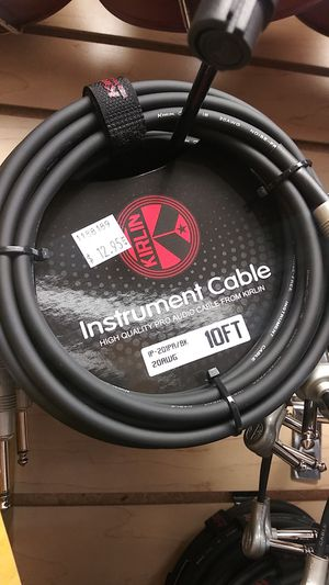 Kirlin Instrument Cable 10ft for Sale in Downey, CA
