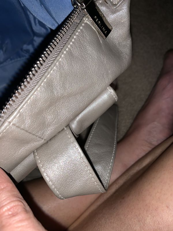 Perlina soft leather handbag completely clean inside lots of pockets