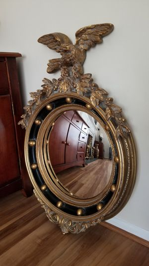 Antique Navy Eagle Round Wall Mirror for Sale in Bowie, MD