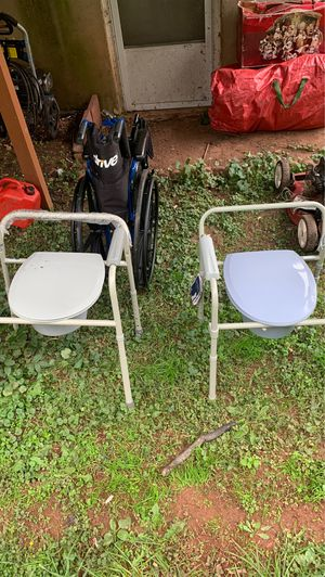 free 2 wheelchair and 2 portable toilet for Sale in Manassas, VA
