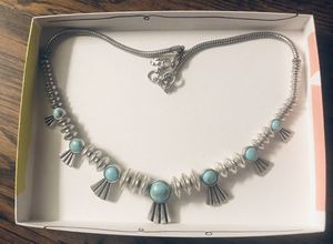Women's beautiful silver and turquoise necklace for Sale in Brentwood, TN