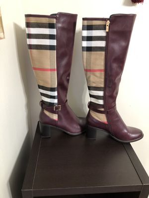 Brand new women long boot above the knee, size 9 , Burberry color for Sale in St. Louis, MO