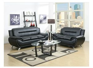 Enna Black Sofa & Loveseat | U2701 for Sale in Elkridge, MD