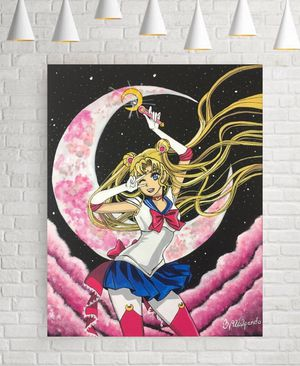 Pink sailor moon painting for Sale in Encinitas, CA