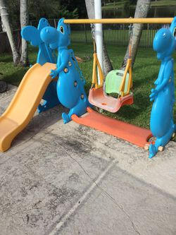 Swing set with slide for Sale in Delray Beach,  FL