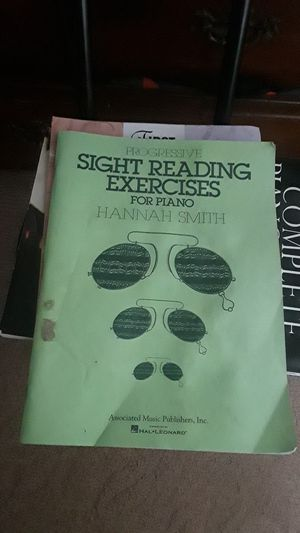 Progressive sight seeing exercises for piano by: Hannah Smith for Sale in Antioch, CA