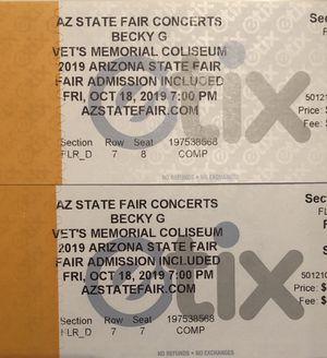 Becky G concert tickets $60 for Sale in Phoenix, AZ