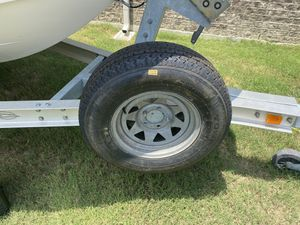 Set of 5 trailer rims and tires ( 215/75/D14 ) for Sale in Fort Worth, TX