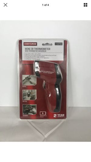 NEW Craftsman Infrared Thermometer Dual Laser Pointers 12:1 Distance To Spot for Sale in Peoria, IL