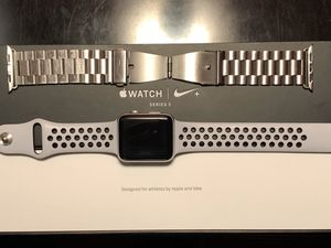 Nike + plus Apple Watch series 3 42mm screen GPS with Stainless Steel band for Sale in Moreno Valley, CA
