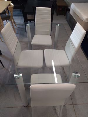 Buy Now! Beautiful New White Dining Table Set On Sale ( was 299 ) for Sale in Davenport, FL