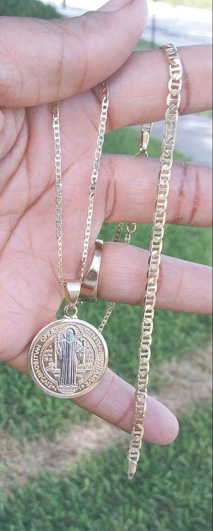 🚚💨I deliver🚀I Ship...😍😍14kt 💎Gold filled 💦 Necklace bracelet and charm 🌟🌟🌟🌟🌟 for Sale in Fort Lauderdale, FL