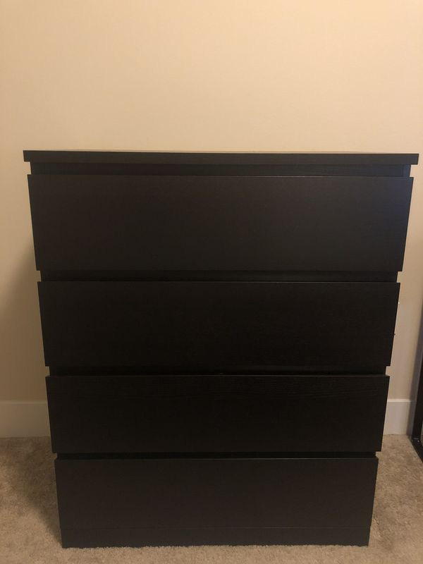 *PENDING PICK-UP* IKEA Malm 4-Drawer Dresser, Black/Brown