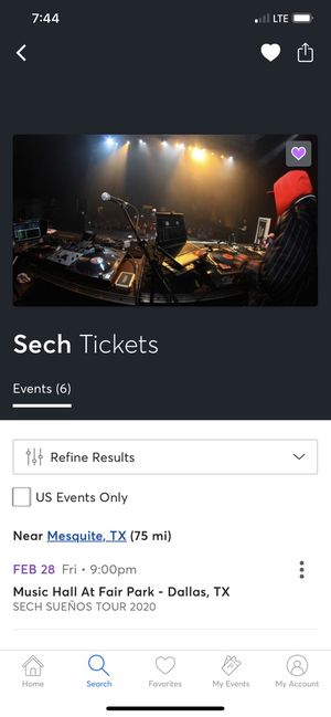 Sech concert tickets for Sale in Mesquite, TX