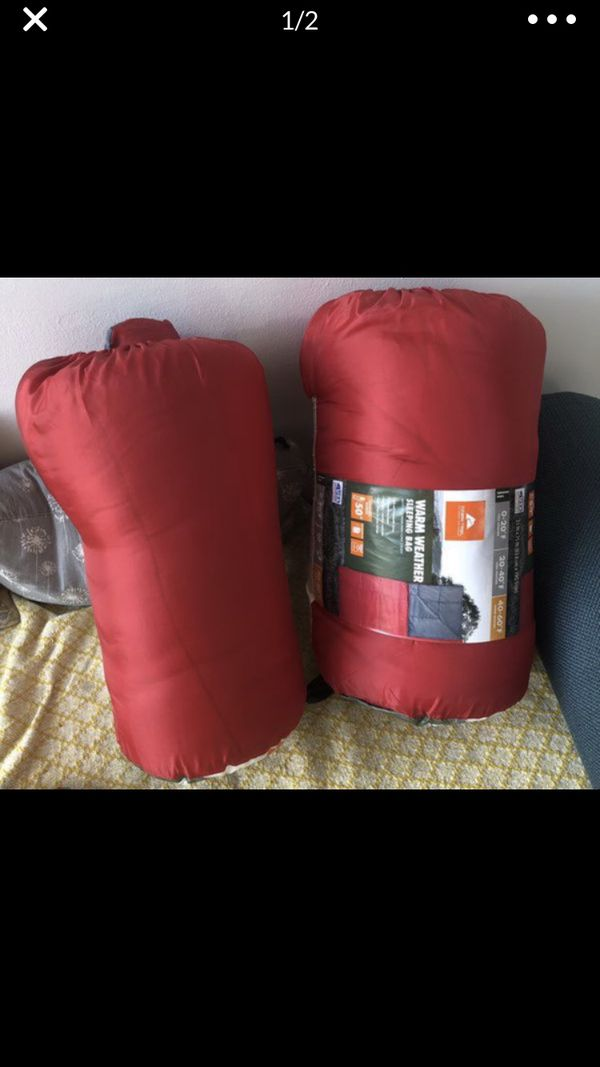 Two red sleeping bags ! Used 1
