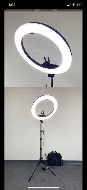 "19"" Ring Light w/ Stand, Ball Head, Phone Holder Sociallight for Sale in Pomona, CA"