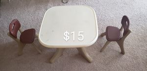 Kids study table with 2 chair for Sale in Atlanta, GA