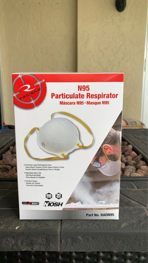 Radians n95 face mask 20ct per box for Sale in Cape Coral, FL