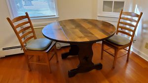 Nice sturdy round table and two chairs for Sale in Manasquan, NJ