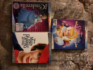Bluray DVD and digital copy Mary Poppins and all 3 cinderella for Sale in Portland, OR