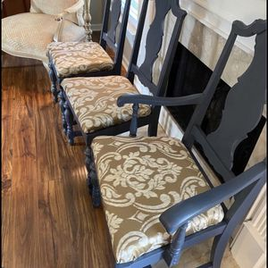 Shabby Chic 6 Antique Chairs Restored: Painted and Recovered - Solid Wood - Farmhouse Chair for Sale in Brentwood, TN