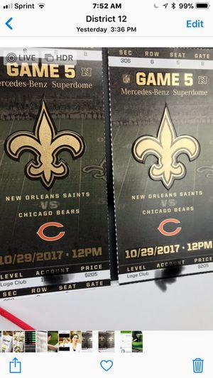 Saints Bears ticket club seats for Sale in Port Allen, LA