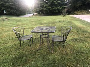 Outside table with two chairs for Sale in Roswell, GA