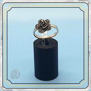 Shimmering Marcasite Rose Ring in Sterling Silver for Sale in Springfield, TN
