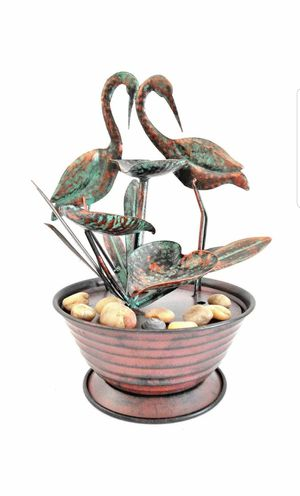 Cranes & Tiered Lily Cups With Reeds Tabletop Fountain for Sale in Holiday Hills, IL