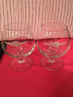 """Set of 2 collectible """" IMPORTED FROM DETROIT """" Brandy glasses for Sale in Dearborn, MI"""