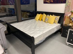 Furniture mattress- king bed frame + mattress for Sale in McClellan Park, CA