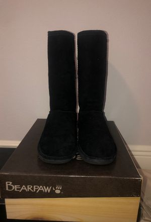 Bearpaw Black Fur Boots for Sale in Tampa, FL