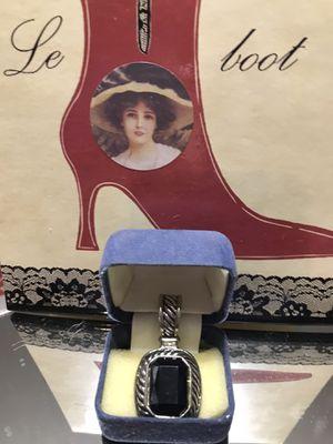 Pretty! Silver Black Onyx Stone Pendant for Sale in Gainesville, VA