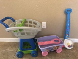 Shopping cart , rapunzel pull cart, push toy for Sale in Pasadena, TX