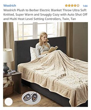 Woolrich plush to Berber electric blanket for Sale in Ontario, CA