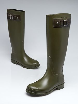SAINT LAURENT Green Rubber Festival Rain Boots for Sale in Miami, FL