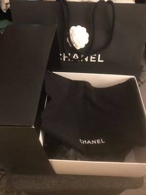 Chanel Original Flapbag Gift Box .New Paper Bag .Dust Bag Size:11x11x5 for Sale in Quincy, MA