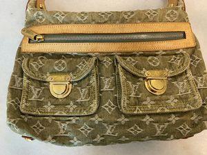 Louie Vuitton Green Denim Shoulder Bag for Sale in Houston, TX