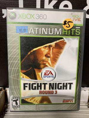 XBOX 360 Fight Night Round 3 for Sale in Glendale, AZ