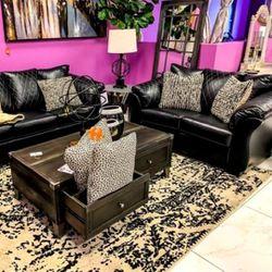 ✨Instock 🌟Betrillo ♦️Black 💐Living Room Set ✨New 🌀SAME DAY Delivery for Sale in Arlington,  VA
