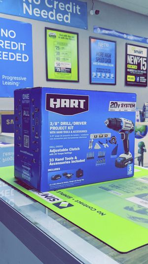 HART 20-Volt Cordless 36-Piece Project Kit, 3/8-inch Drill/Driver and 10-inch Storage Bag! Brand New in Box! for Sale in Arlington, TX