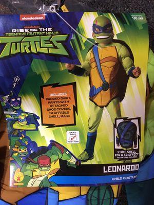 Brand new Teenage mutant ninja turtle Leonardo deluxe costume -boys size 4/6 for Sale in Cicero, IL