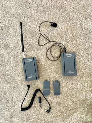 1 Wireless Lavalier System - Audio-Technica Pro 88W-R35 VHF Wireless Lav System w/ATR35 Mini Omnidirectional Clip-On Microphone for Sale in Las Vegas, NV