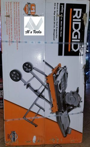 Ridgid 10in wet tile saw with mobile stand brand new for Sale in Paramount, CA