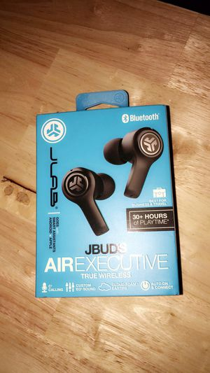 JLab Audio JBuds Air Executive True Wireless- Bluetooth Earbuds (Black) for Sale in Fresno, CA