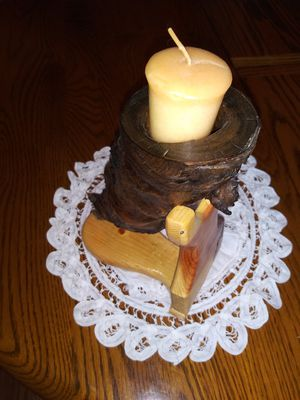 Cone shaped driftwood candle holder for Sale in Woodburn, OR