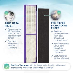 Germ Guardian FLT5250PT True HEPA Genuine Air Purifier Replacement Filter C, with Pet Pure Treatment for GermGuardian AC5250PT, AC5000E, AC5300B, AC53 for Sale in Tinley Park, IL
