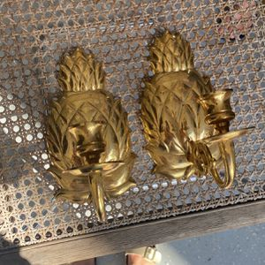 Brass Pineapple Wall Candle Sconces for Sale in West Palm Beach, FL